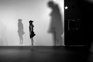 Photo from performance of A Ridiculous Dream, take by Stelios Choustoulakis